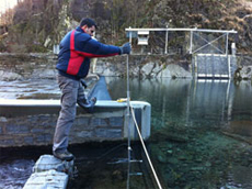 Image Measuring with small hydrometric reel